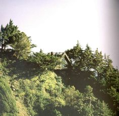 wild bird house, big sur Nathaniel and Margaret Owings A frame house - founder of SOM- Skidmore Owens and Merrill