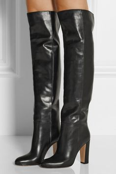 Gianvito Rossi - Leather knee boots. Stivali Alti ... 683a3bb41fe