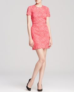 DKNY Scalloped Edge Lace Sheath | Bloomingdale's