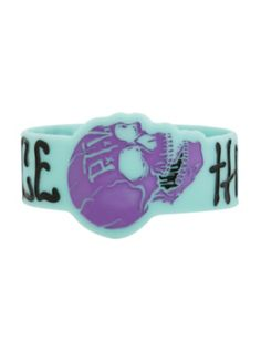 Pierce The Veil Skull Rubber Bracelet