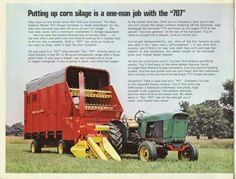 New Holland 707 Tractor-Mounted Silage Chopper Ad Tractor Drawing, New Holland Agriculture, Old Farm Equipment, Vintage Farm, Harvester, Tractors, Advertising, Ads, Barn Quilts