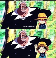 One Piece_ Straw Hat Pirates_ Mugiwara Kaizoku_ Little Luffy_ Funny