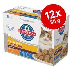 Korzystny pakiet Hill's Feline Adult Urinary & Hairball Control, 12 x 85 g