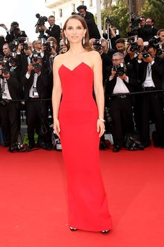 Natalie Portman in Dior Gown at La Tete Haute Premiere at 2015 Cannes Film Festival