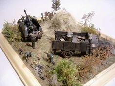 """Diorama """"Nachschub für die mobile Artillerie"""""""