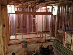 #Framing for the #screen #wall in the #theater