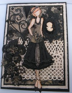 "Prima ""Ruby"" doll by Julie Nutting - card created by Joanne Scott"