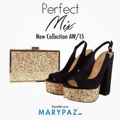 ¿ Aún no tienes el conjunto perfecto para los primeros días otoñales ?  Consigue el ansiado Perfect Mix de la mano de MARYPAZ <3 <3 <3   ¡ Hay muchas combinaciones de zapato + bolso !  BOLSO ► http://www.marypaz.com/tienda-online/clutch-rectangular-con-perfil-metalico-48846.html?sku=73210-00   PEEP TOES ► http://www.marypaz.com/tienda-online/peep-toes-de-tacon-y-plataforma-destalonado-51198.html?sku=72371-35