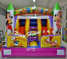 Scivolo gonfiabile indistruttibile che dura una vita http://playhousegonfiabili.it/scivoli-gonfiabili/scivolo-gonfiabile-divertilandia-143-detail.html