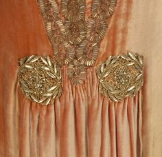 Evening dress, early 1920's Detaile