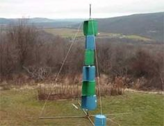 Vertical Wind Turbine made from Old Plastic Barrels