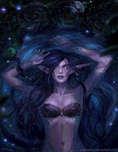 Moonwell -world of warcraft art Fantasy Kunst, Fantasy Rpg, Fantasy Girl, Fantasy Artwork, Dark Fantasy, Final Fantasy, World Of Warcraft Characters, Dnd Characters, Fantasy Characters