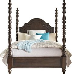 Westerleigh Oak 4 Pc King High Poster Bed. $799.99. 93L x 85W x 81H. Find affordable Beds for your home that will complement the rest of your furniture.