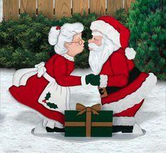 mr. & mrs. santa made of felt | Christmas Wood Patterns | ... Wood Patterns Animated motor-action wood ...