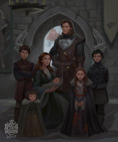 "7,044 Likes, 121 Comments - Raymond Terutama (@raymondwaskita) on Instagram: ""The Starks circa 291 AC. ( when rickon hasnt even exsisted) 7 years before the event of ASOIAF…"""