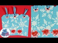 Como hacer Tags de Navidad 3D *3D Christmas Tags* DIY Tutorial Navidad 2015 Scrapbook Pintura Facil - YouTube