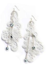 DIAMOND BLUE EARRINGS IN WHITE