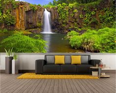 Secret Waterfall Repositionable Wall Mural By By FotoWallsUSA. Custom Removable  Wall Murals U0026 Wall Paper Part 54