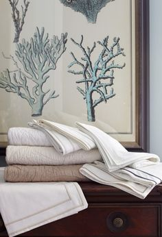 Dress your bed with our Juliette and St. Lucia Quilts, both handcrafted works of art.