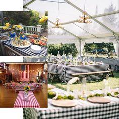 "Buffalo Plaid Tablecloths   90""x156"" Rectangular   White/Blue   Checkered Polyester Linen Tablecloth   eFavorMart Blue Kitchen Curtains, Plaid Tablecloth, Checker Design, Wedding Tablecloths, Event Themes, Picnic Time, Table Covers, Buffalo Plaid, Blue And White"