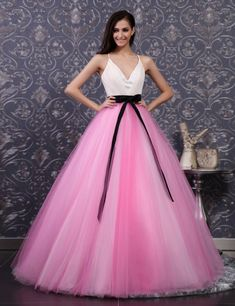 #pink wedding dress