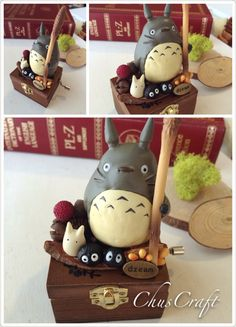 Totoro music box from https://www.etsy.com/shop/ChusCraft