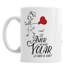 Taza para Ella Tu Amor me hace Volar - Ella se merece este regalo especial - la taza personalizada más bonita para regalar en San Valentín, aniversario u ocasión especial
