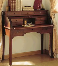 Escritorio Bureau Con Persiana Deis, mueble para el recibidor y escritorio