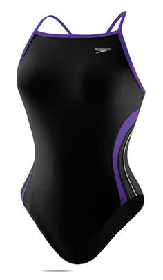 f583396019 $28.23 - Speedo 8191203 Girls Rapid Spliced Energy Back(Youth), Black/Purple