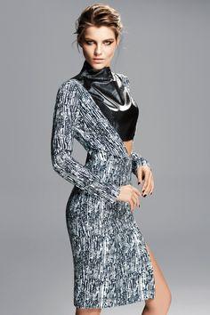 Selmacilek fall winter 2015 collection #selmacilek #leather #dress #printed #leathertop #fallwinter2015