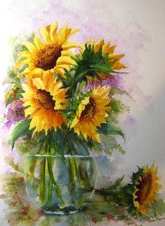 Watercolor Paintings Of Flowers | Summertime — Mike Flynn Watercolor