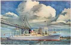 Anyone recognise the ship in this Etsy listing at https://www.etsy.com/listing/200910782/liner-in-san-francisco-bay-under-oakland