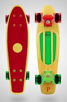 Penny Board. Glow n Zombie Green Deck with Biohazard Flare LED Wheels http    driftingthru 33e07b34b9d