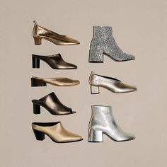 Anticipating the holiday season. Shop link in bio #metallic #shoes #footwear #thedreslyn