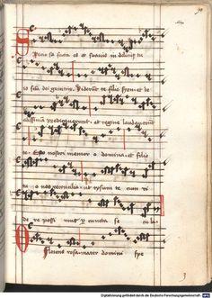 Cantionale, Geistliche Lieder mit Melodien. Münchner Marienklage Tegernsee, 3. Drittel 15. Jh. Cgm 716  Folio 90