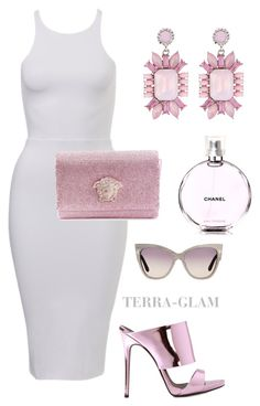 """""""Spring Is Upon Us"""" by terra-glam ❤ liked on Polyvore featuring Versace, Giuseppe Zanotti, sweet deluxe, Chanel and Tom Ford"""