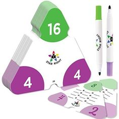 Star Right Math Triangle Flash Cards, Multiplication and Division Facts Double-Sided, 2 Write and Wipe Cards Included, 2 Erasable Markers, for Ages 8 & Up Learning Multiplication Facts, Multiplication And Division, Math Facts, Math Fractions, Maths, Division Flash Cards, Math Flash Cards, Math For Kids, Fun Math