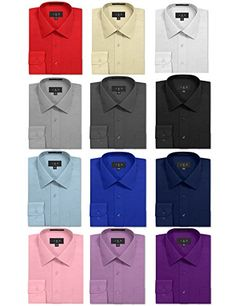 Men's Clothing - JD Apparel Mens Regular Fit Dress Shirts >>> More info could be found at the image url. (This is an Amazon affiliate link)