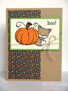 Lawn Fawn - Into the Woods, Harvest Season, Heebie Jeebies, Into the Woods 6x6 paper, Gold Sparkle Lawn Trimmings _ sweet design by Lisa! UnscriptedSketches227-HalloweenCardForMya | Flickr - Photo Sharing!