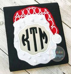 Santa Monogram Applique $ REPIN THIS then click here: https://creativeappliques.com/