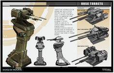 Halo Wars UNSC Turrets by saizarod on DeviantArt
