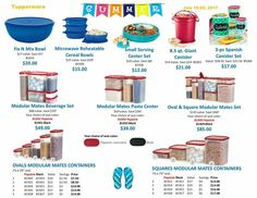 These sales and Friday 7/28/17.  Message me or visit my website to place your order.   Kasey.my.tupperware.com
