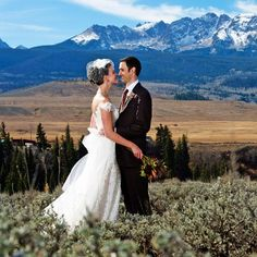 Stunning views in this Colorado wedding with lots of rustic details!