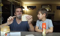 Dad Annoys The Heck Out Of His Kids By Making PB&Js Based On Their Instructions | The Huffington Post