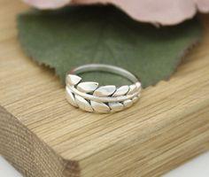 925 Sterling Silver Delicate Big Leaf statement ring ,R1167S