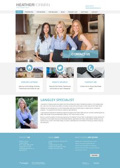 New website using the Ubertor platform for Realtor Heather Forman and her team. They specialize in helping buyers and sellers with the purchase and sale of residential property in the Langley area, but they also work with buyers and sellers of homes, condos and townhouses in other areas of the Fraser Valley. Clean, bright and easy to navigate.