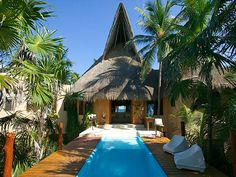 Casa Nalum is located inside the biosphere reserve of Sian Kaan, this beautiful villa rests along the white sandy beaches of the Mexican Caribbean. Just south of Tulum, this protected area offers the absolute BEST beach and natural experiences in Mexico.