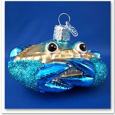 Blue Crab sea life Glass Merck Old World Christmas Ornament animal NWT 12184. Have it