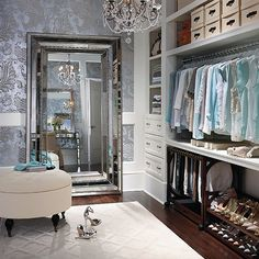 Dream Dressing Room Decor - #wardrobes #closet #armoire storage, hardware, accessories for wardrobes, dressing room, vanity, wardrobe design, sliding doors,  walk-in wardrobes.