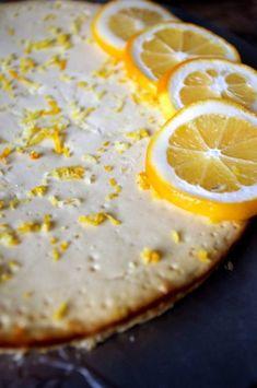 Healthy Crustless Meyer Lemon Cheesecake made with Greek Yogurt